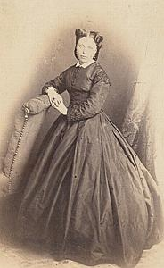 Woman Lyon Second Empire Fashion old Fatalot CDV 1860'