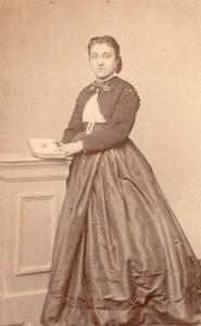 Woman Cognac Second Empire Fashion old Cheroux CDV 1860