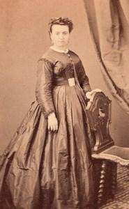 Woman Bordeaux Second Empire Fashion Charles CDV 1860'