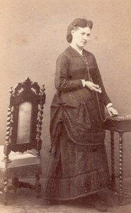Woman Caen Second Empire Fashion old CDV 1860'