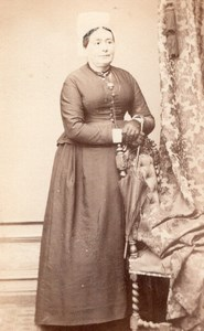 Woman Rochefort Second Empire Fashion old CDV 1860'