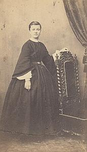 Woman Amiens Second Empire Fashion Courleux CDV 1860'