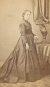 Woman Cette Second Empire Fashion old Vives CDV 1860'