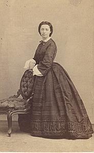 Woman Roma Second Empire Fashion Alessandri CDV 1860'