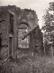 France Fermeviller Church Ruins WWI Military scene war Photo