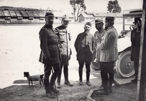 Peronne Officers WWI Military scene old war Photo