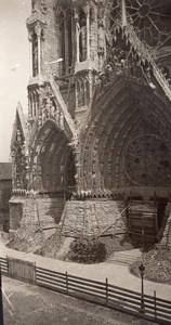 France Reims cathedral WWI Military scene old war Photo