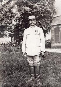 Colonel Briand Senegalese Camp WWI Military war Photo