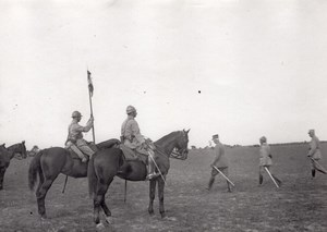 General Fayolle Horses WWI Military scene old war Photo