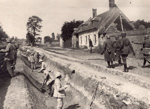 Salonique Trench WWI Military scene old war Photo
