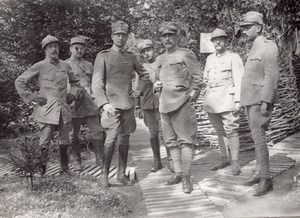 Officers WWI Military scene old Orient War Photo