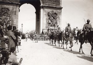 French Troops Paris WWI Military Parade war Photo 1919