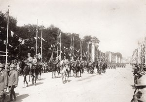 Italian Troops Paris WWI Military Parade war Photo 1919