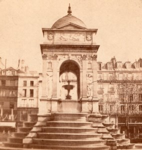 Paris Fontaine des Innocents France Stereo Photo 1860'