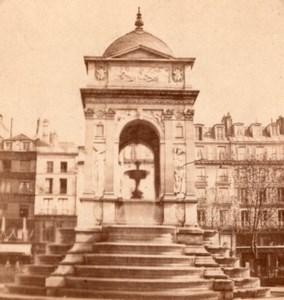 Paris Fontaine des Innocents France Stereo Photo 1860'