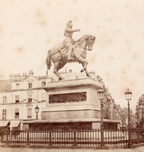 Orleans Jeanne d Arc Statue France Stereo Photo 1860'
