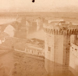 Avignon Rampart Bridge France Old Stereo Photo 1860'