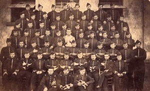 Belgium Gand Artillery Military Soldiers Old Photo 1880