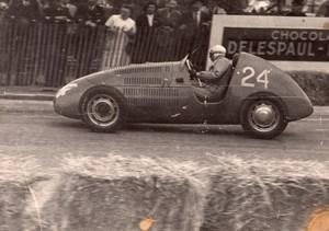 Pilot Race Course Bonnet on D.B. France old Photo 1950'