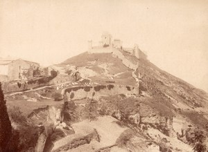 Assisi Castle Rock View Panorama Italy Old Photo 1875'