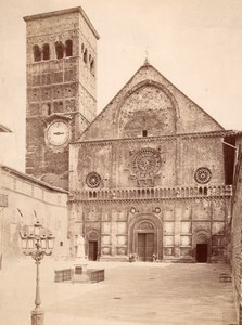 Assisi Church Cathedral Facade Italy Old Photo 1875'