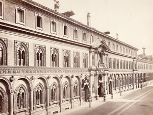 Milano Hospital Mayor Facade Italy Old Photo 1875'