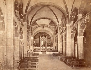 Milano San Ambrogio Church Italy Old Photo 1875'