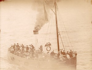 France Dieppe Steamer JB Pollet old Photo 1900'