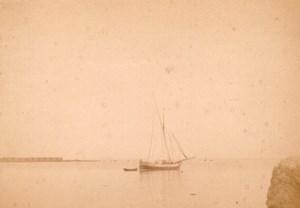 Algeria Alger Port Fishing SailBoat old Photo 1890'