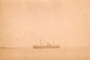 Algeria Alger Port Paquebot Ville de Rome Photo 1890'