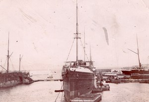 Steamer Indus Boat France Old Photo 1890'