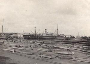Steamer Amiral Exelmans Boat France Old Photo 1890'