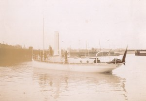 Tugboat Intrepide Boat Brazil Marine Old Photo 1890'