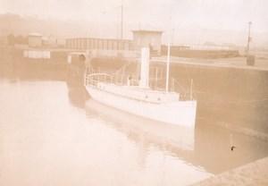 Tugboat Intrepide Boat Brazil Marine Old Photo 1890'