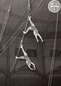 Trapezistes France Medrano Circus Trapeze Photo 1950'