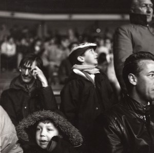 Manchester Football Supporters Study Photo 1990'