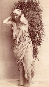 Street porter Ethnic Study Egypt Types Old Photo 1880