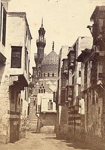 Cairo Mosque Street Study Egypt Old Photo 1880