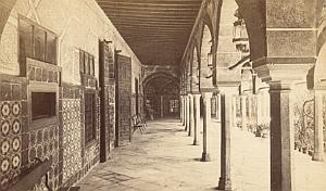 Algiers Library Walkway Algeria Old CDV Photo 1875'