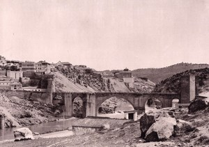 Spain Toledo panorama old Photo Hauser Menet 1897