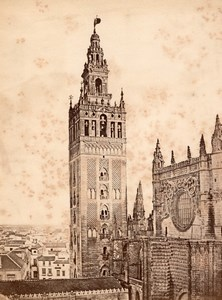 Spain Sevilla Giralda Tower old Beauchy Photo 1875