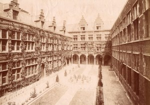 Belgium Anvers Plantin Museum Garden old Photo 1880'