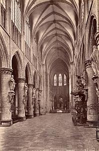 Belgium Brussels Saint Gudule Cathedral old Photo 1880'