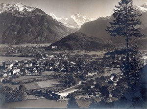 Switzerland Interlaken Jungfrau Alpes old Photo 1900