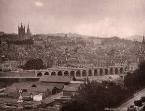 Lausanne Panorama Bridge Switzerland old Photo 1890