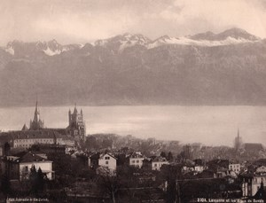 Lausanne Savoie Alpes Switzerland old Photo 1890