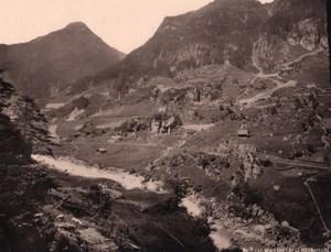 Wassen Gesamtubersicht Switzerland old Photo 1890