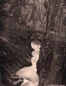 Teufelsbrucke bei Andermatt Switzerland old Photo 1890