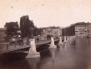 Geneve Bridge Animated Switzerland Sommer Photo 1890