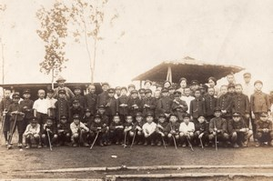 Young Boys Group Student Fashion Japan old Photo 1910